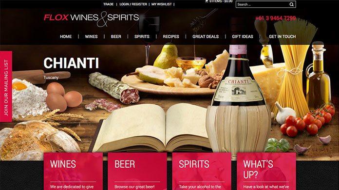 Flox-Wines-&-Spirits   Website Design Sunshine Coast