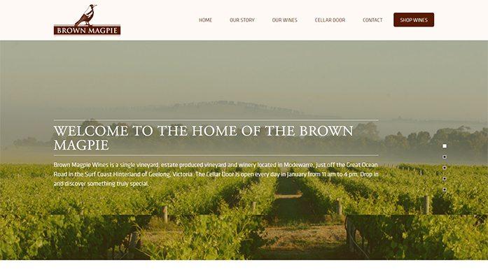 Brown Magpie Wines | Web Design Noosa