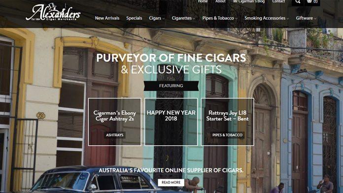 cigars   E-commerce Website Developer Sunshine Coast