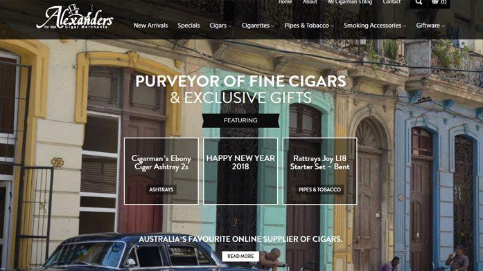 cigars | E-commerce Website Developer Sunshine Coast