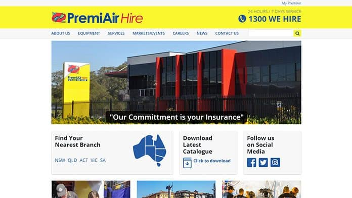 premiair   Website Design Sunshine Coast
