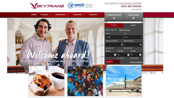 skytrans   Wordpress Developer Sunshine Coast