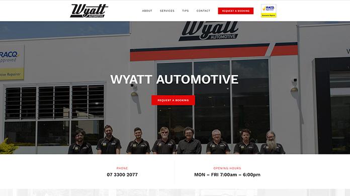 wyatt automotive | Responsive Website Sunshine Coast
