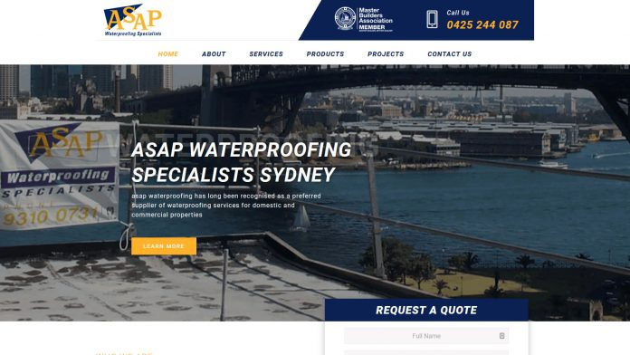 asap Water Proofing | Bonsai Media web design noosa
